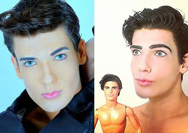 """Kolejny """"Żywy Ken"""": """"Zawsze marzyłem, żeby wyglądać jak lalka!"""""""