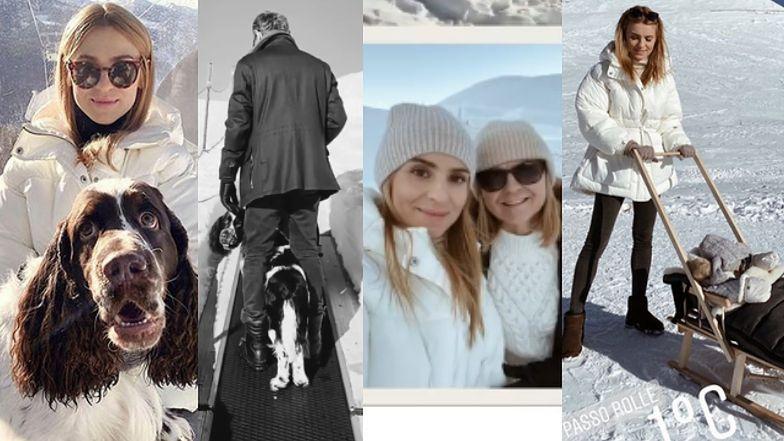 Stylowa Kasia Tusk zdobywa włoskie Alpy w towarzystwie córki, psa i rodziców (FOTO)