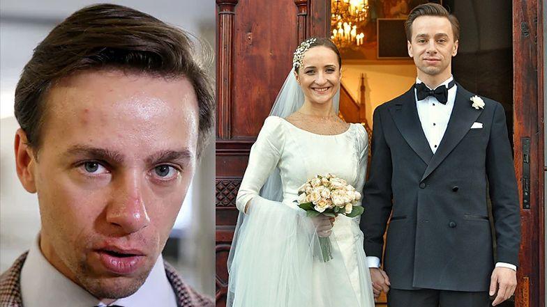 """Krzysztof Bosak wziął ślub! """"Dziś dla mnie wielki dzień: poślubiłem moją ukochaną Karinę"""""""