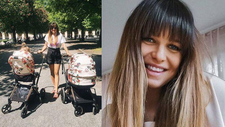 """Anna Lewandowska pozuje z kwiecistymi wózkami, dumnie wyznając: """"Z dziewczyny w dresie stałam się mamą cudownych SZKRABÓW"""""""