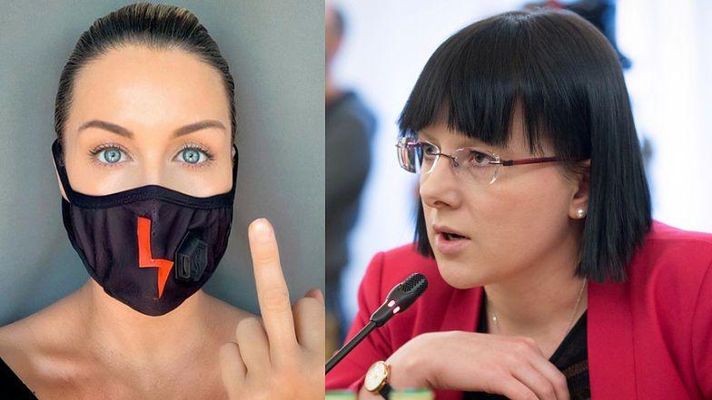 """Małgorzata Rozenek ŚRODKOWYM PALCEM zachęca do protestowania przeciwko zaostrzeniu przepisów antyaborcyjnych: """"Każdy z nas ma prawo do decydowania o sobie!"""""""