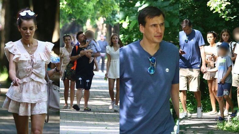 Natalia Siwiec i Jarosław Bieniuk na rodzinnym wypadzie