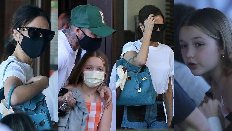 Victoria i David Beckhamowie wraz z dziećmi maszerują na obiad w Miami