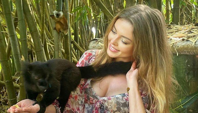 """Joanna Opozda bez Antka, ale z lemurami ładuje baterie na egzotycznych wakacjach: """"Pozdrawiam z Madagaskaru"""" (ZDJĘCIA)"""