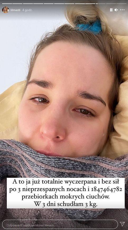 """Zapłakana Lil Masti wyznaje, że ma koronawirusa. """"BÓL CAŁEGO CIAŁA, CIĄGŁE DRESZCZE"""""""