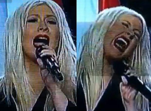 Aguilera POMYLIŁA SŁOWA HYMNU USA! (WIDEO)