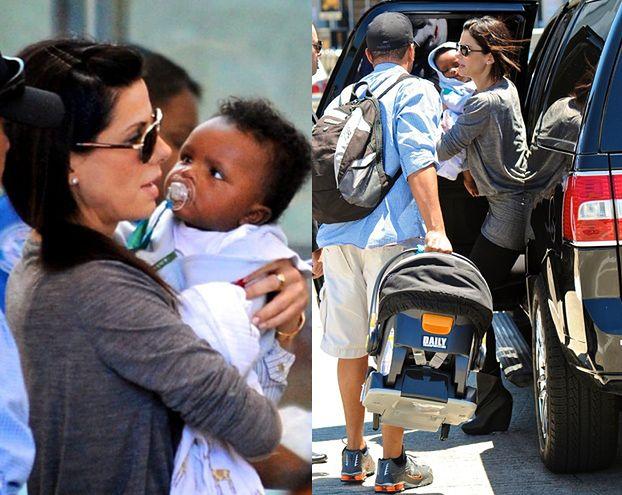 Sandra z synkiem w Los Angeles