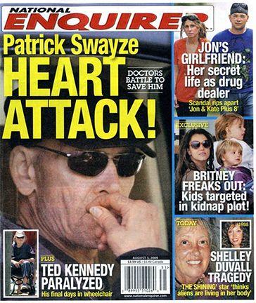 Swayze miał zawał serca!
