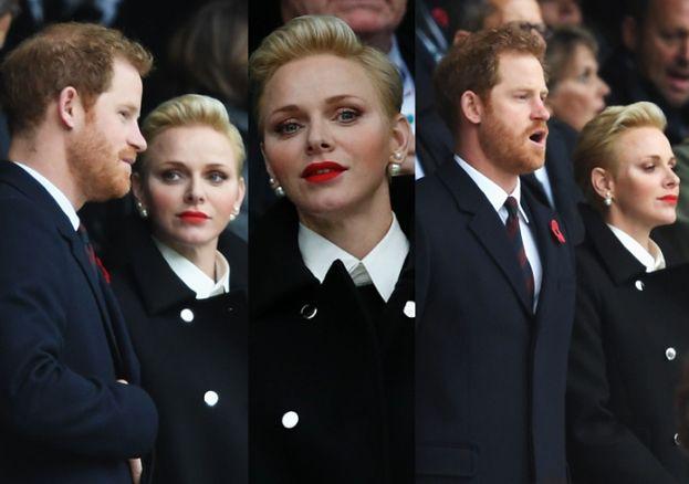 """Książę Harry na meczu rugby z księżniczką Charlene. """"Miał pojawić się razem z Meghan"""""""
