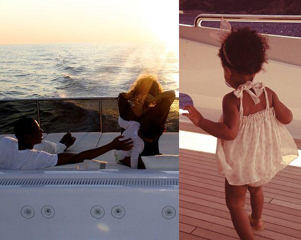 Beyonce z mężem i córeczką na wakacjach (ZDJĘCIA)