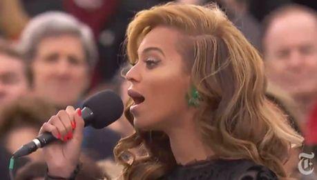Beyonce śpiewa hymn dla Obamy!
