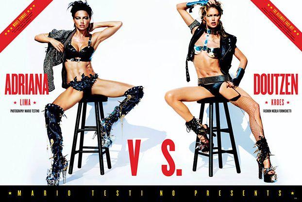 Adriana Lima vs. Doutzen Kroes!