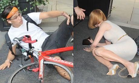 Paparazzi na rowerze POTRĄCIŁ Nicole Kidman!
