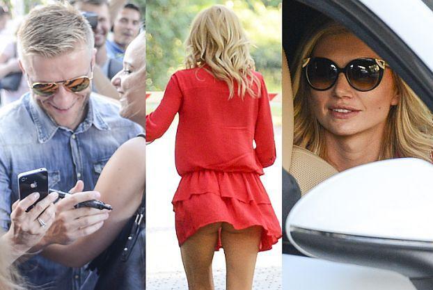 Żona Błaszczykowskiego w białym Porsche i czerwonej sukience odbiera go z hotelu (ZDJĘCIA)