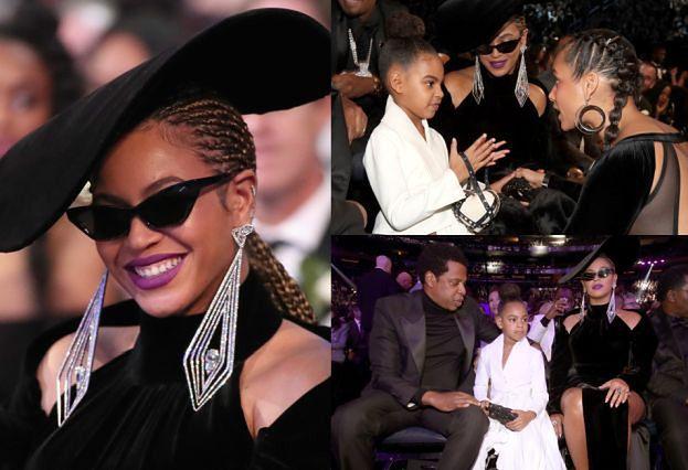 Beyonce, Jay-Z i 6-letnia Blue Ivy z torebką za 10 TYSIĘCY na gali Grammy (ZDJĘCIA)