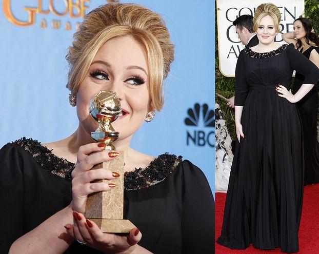 Adele na rozdaniu Złotych Globów! PIĘKNA?