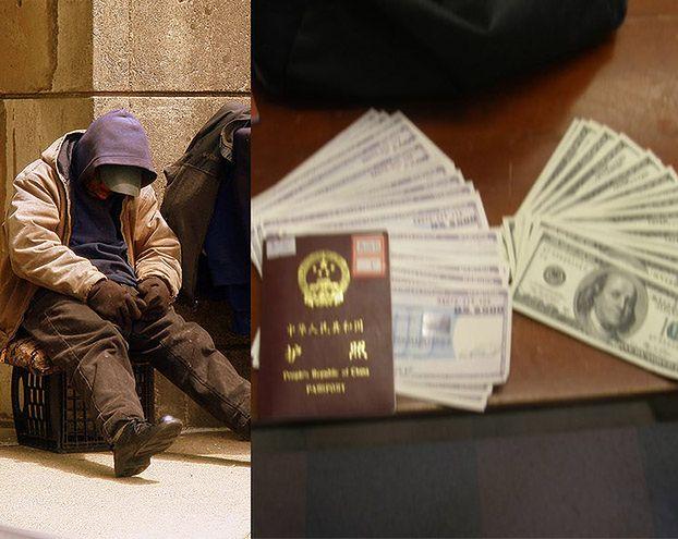Bezdomny oddał plecak z KILKOMA TYSIĄCAMI DOLARÓW!