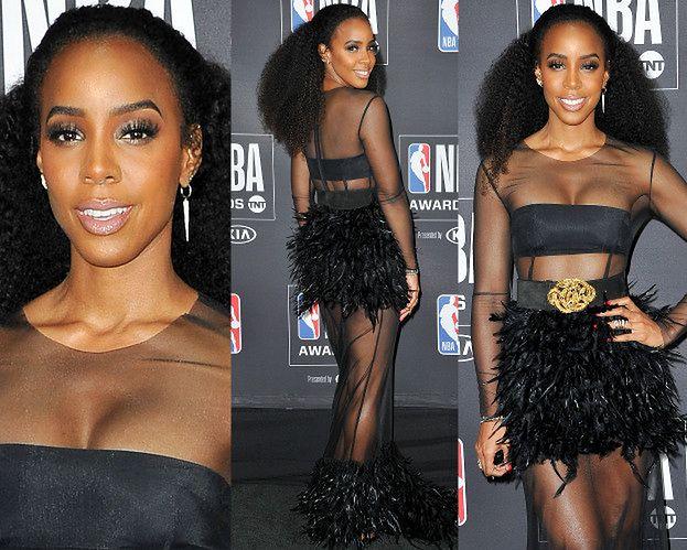 Kelly Rowland kusi koszykarzy opierzoną pupą