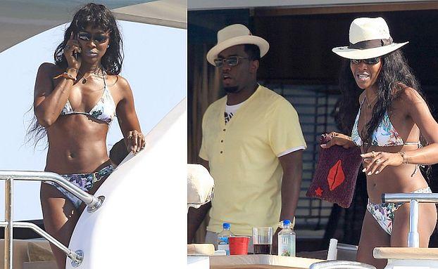 Naomi Campbell i Puff Daddy razem na jachcie! (ZDJĘCIA)
