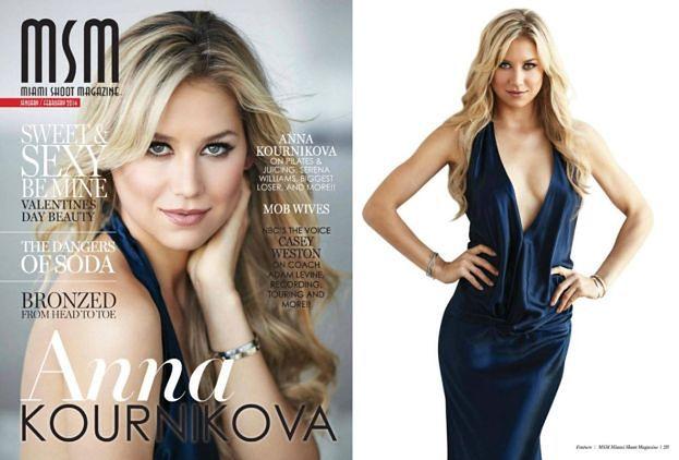 Piękna Anna Kournikova na okładce!