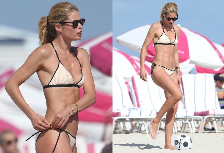 Doutzen Kroes na plaży w Miami