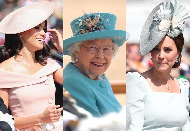 Trooping The Colour: Meghan i Kate świętują 92. urodziny królowej Elżbiety
