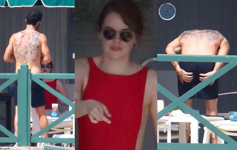 Były mąż Jennifer Aniston na rozbieranej randce z Emmą Stone