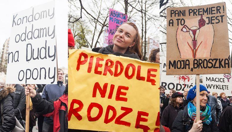 Protesty antyaborcyjne w Warszawie