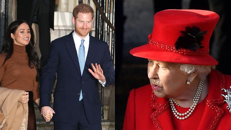 """Królowa Elżbieta """"JEST ROZCZAROWANA"""" decyzją Meghan i Harry'ego! """"Nie uprzedzili jej"""""""