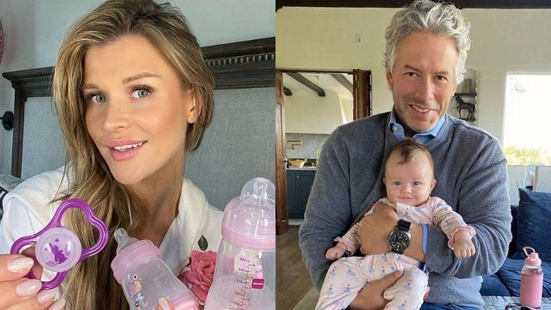 """Joanna Krupa zachwyca się wspólnym zdjęciem córki i męża. Fani: """"Córeczka tatusia, ale buźka czysta mama"""""""