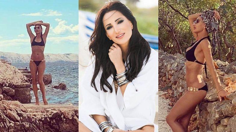 """Wyzwolona Justyna Steczkowska eksponuje nienaganną figurę w skąpym bikini. Fanka: """"I pani ma 47 lat i trójkę dzieci?! SZOK"""" (FOTO)"""