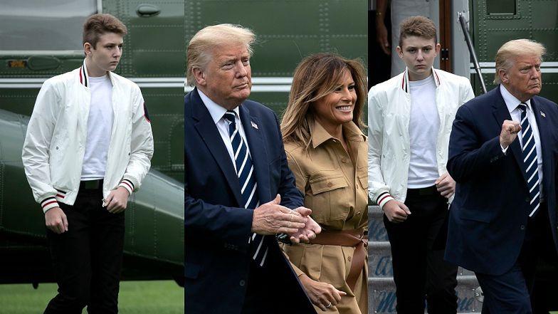 Syn Donalda i Melanii Trump pozuje fotografom PO RAZ PIERWSZY od wybuchu pandemii! Barron PRZERÓSŁ już swoich rodziców!(ZDJĘCIA)