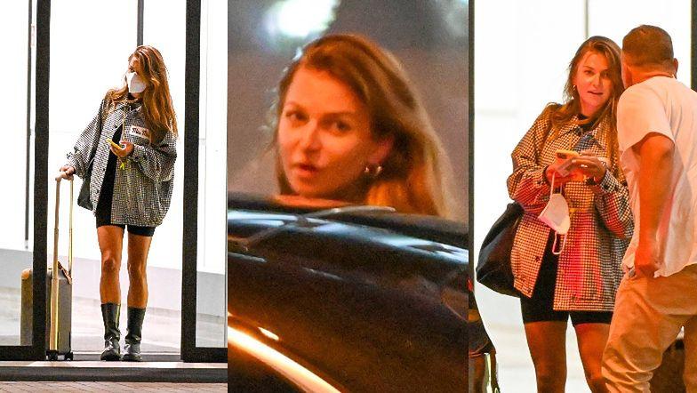 Anna Lewandowska w koszuli za 7 tysięcy i obcisłych szortach pakuje manatki do limuzyny na lotnisku (ZDJĘCIA)