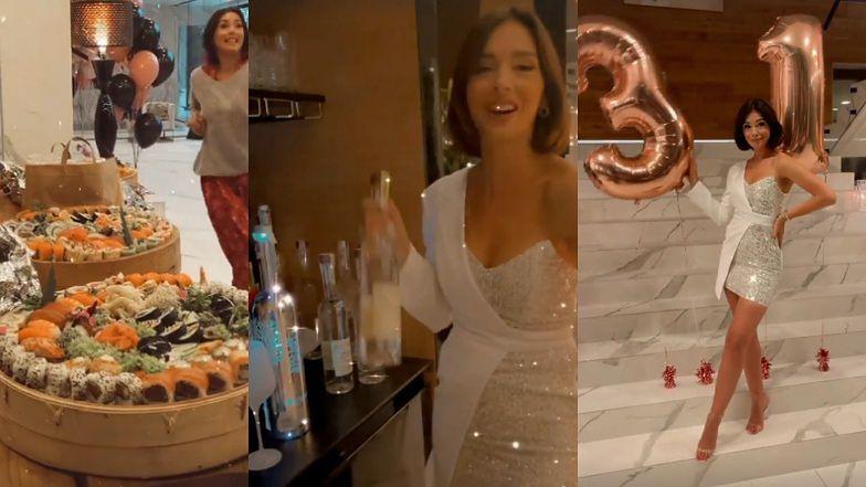 """""""Skromne"""" urodziny Klaudii Halejcio w domu za 9 milionów: sushi, personalizowane ciasteczka i wódka za TYSIĄC ZŁOTYCH (ZDJĘCIA)"""