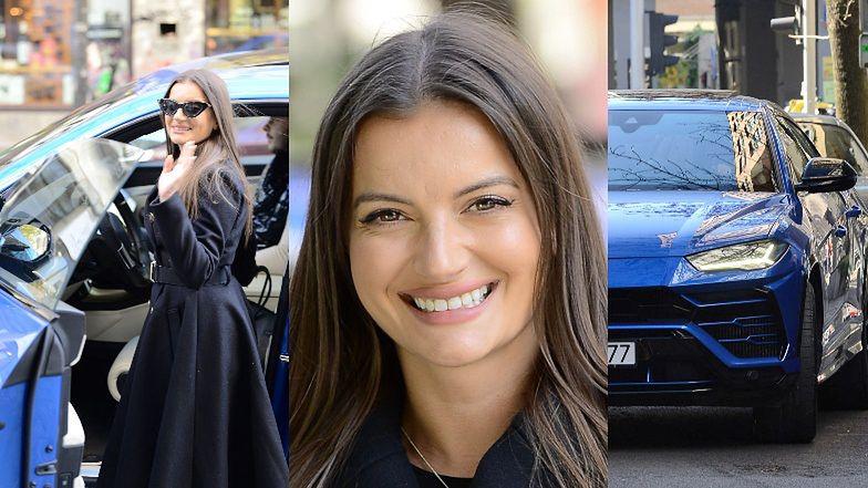 Odpicowana Natalia Janoszek wiezie torebkę za 30 tysięcy swoim Lamborghini za ponad MILION ZŁOTYCH! (ZDJĘCIA)