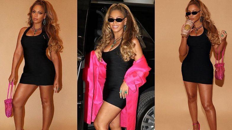 Beyonce w obcisłej sukience eksponuje swoje kształty na imprezie Jaya-Z (ZDJĘCIA)