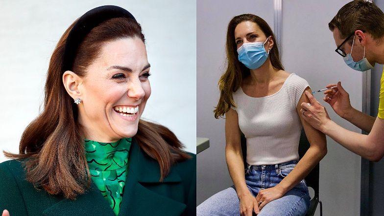 """Kate Middleton ZASZCZEPIŁA SIĘ. """"Jestem niezmiernie WDZIĘCZNA"""" (FOTO)"""