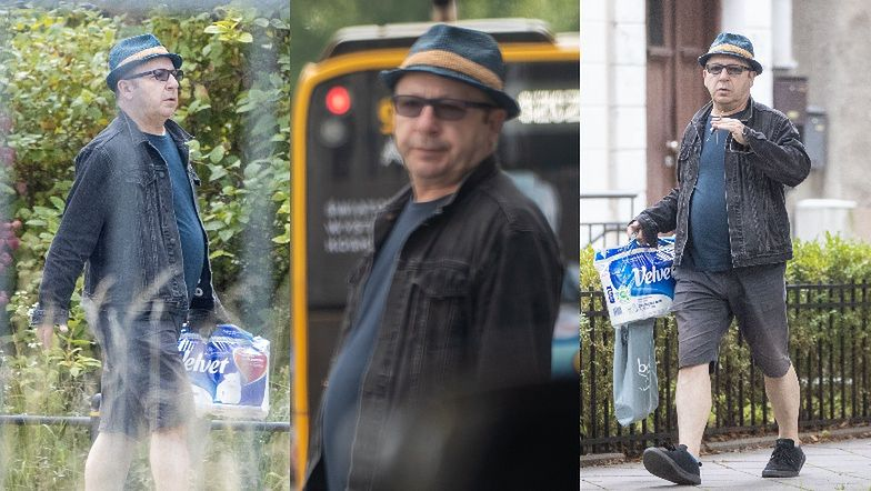 Zbigniew Zamachowski krąży po Żoliborzu z papierem toaletowym (ZDJĘCIA)