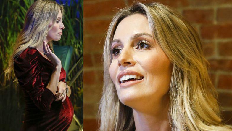 Agnieszka Hyży w mini z dumą prezentuje ciążowy brzuszek (ZDJĘCIA)