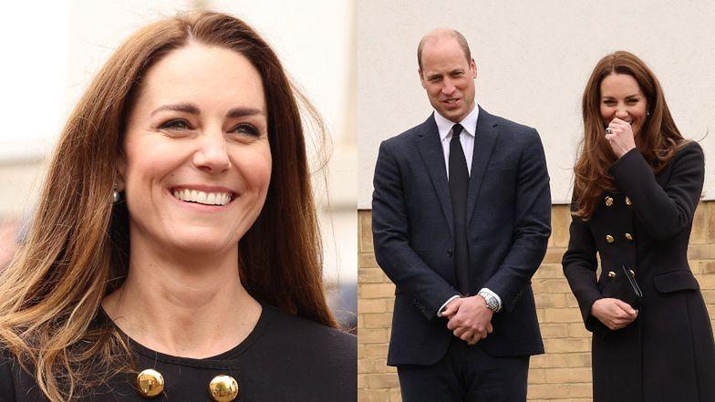 Kate Middleton i książę William zabawiają młodych kadetów na pierwszym wyjściu od śmierci księcia Filipa (ZDJĘCIA)