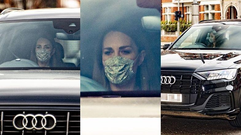 """PRZYGNĘBIONA Kate Middleton """"przyłapana"""" przed Pałacem Kensington (ZDJĘCIA)"""