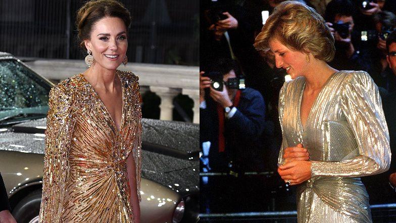 Kate Middleton oddała hołd księżnej Dianie. Inspirowała się jej kreacją z premiery Bonda sprzed lat (ZDJĘCIA)