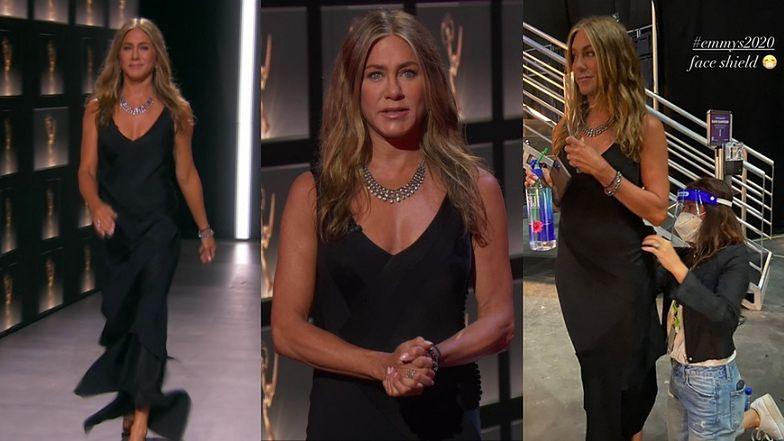 """Emmy 2020. """"Skromna"""" Jennifer Aniston BŁYSZCZY podczas wirtualnej gali wręczenia statuetek (ZDJĘCIA)"""