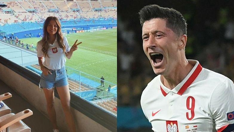 """Euro 2020. Kibice apelują do Anny Lewandowskiej, by przyleciała na mecz Polska - Szwecja. """"Robert zobaczył żonę I OD RAZU GOL!"""""""