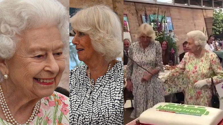 Krzepka królowa Elżbieta WYWIJA MIECZEM przed nosem księżnej Camilli (ZDJĘCIA)
