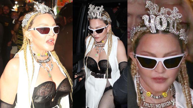 Madonna ŚWIECI BIUSTEM na Times Square. Gustownie? (ZDJĘCIA)