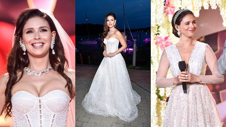 Klaudia Halejcio zadaje szyku W DWÓCH sukniach ślubnych na Festiwalu Weselnych Przebojów w Mrągowie (ZDJĘCIA)