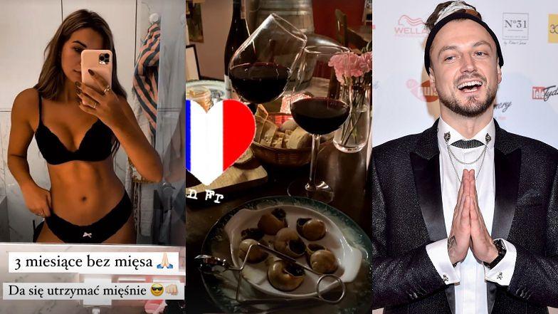 Wegetarianka Sandra Kubicka chwali się RANDKĄ z Baronem! Poszli na zapiekany ser i ślimaki. Smacznie?