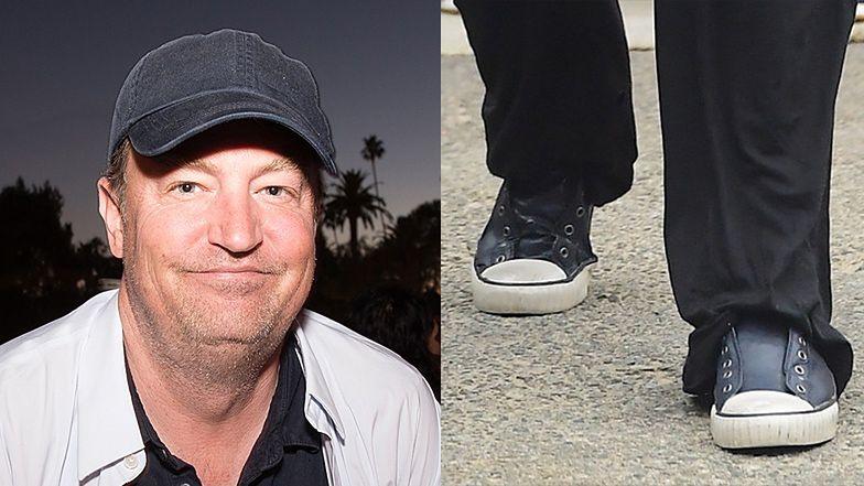Zapuszczony Matthew Perry przemierza ulice Malibu w trampkach bez sznurówek (FOTO)