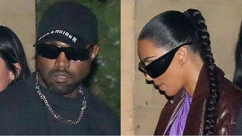 Wystrojona Kim Kardashian poszła z Kanye Westem na kolację! (ZDJĘCIA)